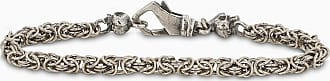 Emanuele Bicocchi Bracciale a catena Bizantina sottile argento