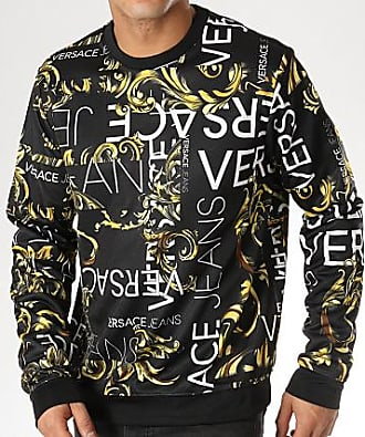 Versace Jeans Couture Sweat Crewneck Tup300 B7GTAF2 Noir Renaissance 2576028b3a9