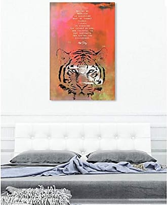 The Oliver Gal Artist Co. The Oliver Gal Artist Co. Oliver Gal Maggie P Chang-Tiger Orange Wild Animals Wall Art Print Premium Canvas 40 x 60