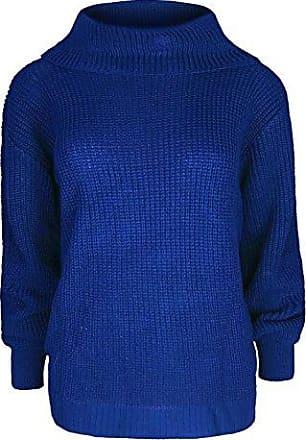 Damen Pullover Mit Wasserfallausschnitt Damen Grob Gestrickt Baggy Übergröße