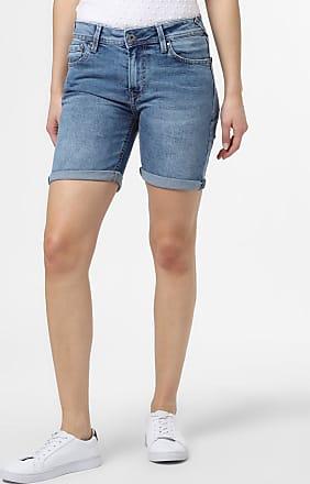Pepe Jeans London Damen Jeansshorts - Poppy blau