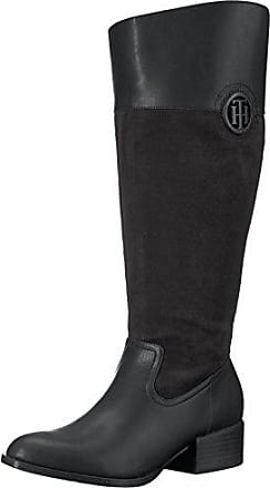 7e22062002b48c Tommy Hilfiger Womens MADELN-WC Equestrian Boot Black