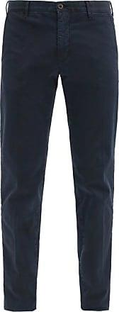 Incotex Cotton-blend Gabardine Tapered-leg Chinos - Mens - Navy