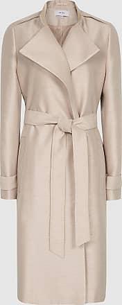 Reiss Isla - Textured Longline Mac in Pink, Womens, Size 10