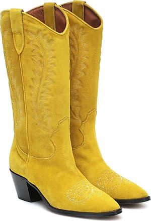 PARIS TEXAS Suede knee-high cowboy boots