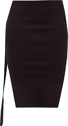 Rick Owens Easy Side-slit Jersey Mini Skirt - Womens - Black