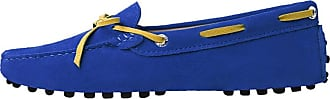 MGM-Joymod Ladies Womens J1016 Casual Slip-on Knot style2 RoyalBlue Suede Leather Walking Driving Loafers Flats Moccasins Hiking Shoes 6.5 M UK