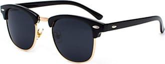 Inlefen Mens Sunglasses Polarized Classic Semi Rimless Sun Glasses for Women Vintage UV400 Sunglasses Black