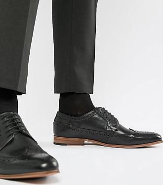 6ced0330934841 Asos Chaussures richelieu en cuir avec semelle naturelle - Noir - Noir