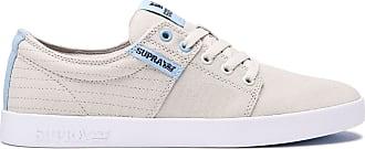 c641098d3b Supra 08184 Mens Stacks Ii Shoe, Bone Stitch-White-M - 6H