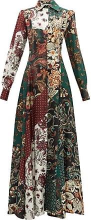 Evi Grintela Evanthia Paisley-print Silk Maxi Shirtdress - Womens - Multi