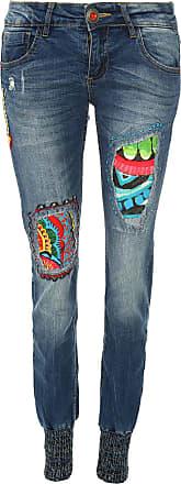 Desigual Calça Jeans Desigual Skinny Aloha Azul