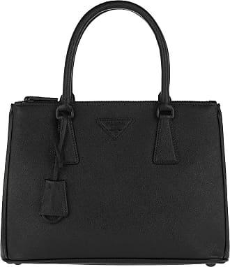 Prada Tote - Galleria Saffiano Tote Black/Black - black - Tote for ladies