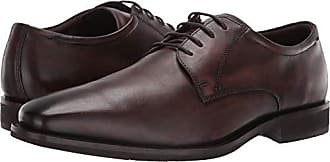Ecco Mens Calcan Plain Toe Tie Oxford, Cocoa Brown, 41 M EU (7-7.5 US)
