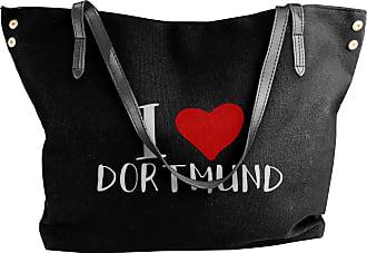 Juju I Love Dortmund Womens Classic Shoulder Portable Big Tote Handbag Work Canvas Bags