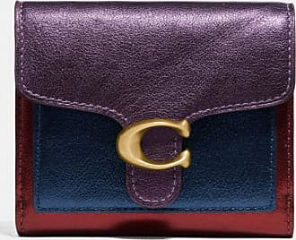 Coach Tabby Small Wallet In Colorblock in Purple
