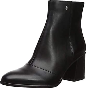 A|X Armani Exchange Womens Smooth Leather Boot with Block Heel Fashion, Black, 40M M EU (10 US)