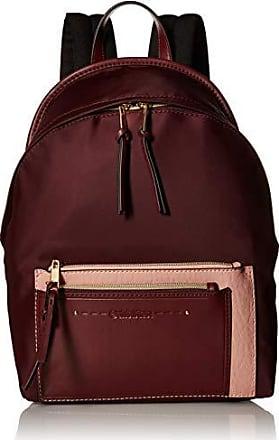Calvin Klein womens Calvin Klein Lisa Nylon Front Zipper Pocket Backpack, merlot, One Size