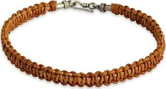 Novica Mens leather braided bracelet, Brown Magnificence