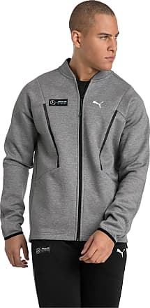 Puma Mercedes Amg Petronas Mens Sweat Jacket, Medium Grey Heather, size 2X Large, Clothing