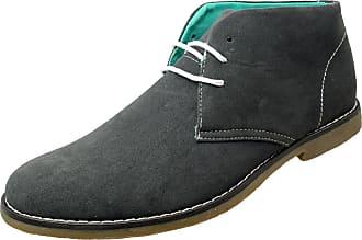 Footwear Studio Classics Mens Navy Blue Faux Suede Lace Up Desert Boots UK 7