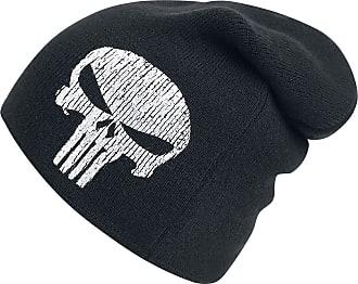 MARVEL The Punisher Logo Long Beanie Beanie Black-White