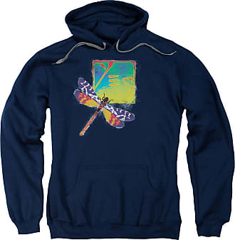 Popfunk Yes Dragonfly Unisex Adult Pull-Over Hoodie for Men and Women Navy