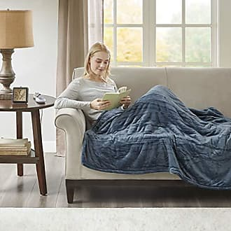 Woolrich Elect Electric Blanket Throw with 3 Heat Level Setting Controller, 60x70, Sapphire