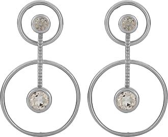 Zoe & Morgan Aurora Silber und Morganit Ohrringe - ONESIZE | sterling silver | silver | brown - Silver/Silver