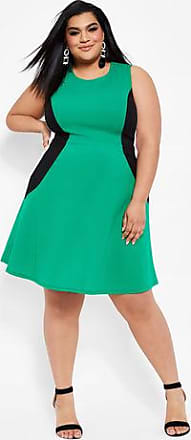 952c18ccb78 Ashley Stewart Plus Size Color Block Hourglass Skater Dress