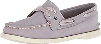 Sperry Top-Sider Womens A/O Satin LACE Boat Shoe, Light Purple, M 100 Medium US