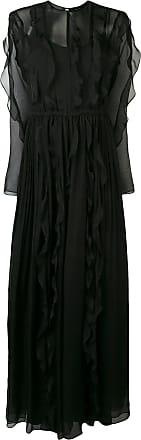 Irina Schrotter Vestido longo com babados - Preto