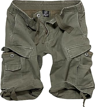 Brandit Basic Vintage Shorts Cargo (Sale) oliv, Größe 5XL