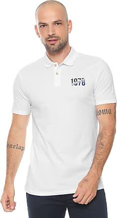 Calvin Klein Jeans Camisa Polo Calvin Klein Jeans Reta Logo Branca