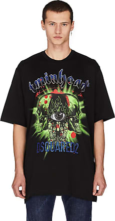 DSQUARED2 Men/'s Black Short Sleeve Graphic T-Shirt Multi