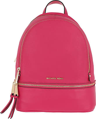 e452a8d4b6ff8a ... wholesale michael kors rhea zip md backpack ultra pink rucksack pink  b59ca 2a283