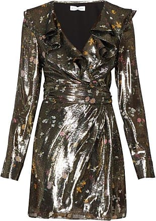 Altuzarra Lennox Floral-print Silk-blend Lamé Mini Dress - Womens - Gold Multi