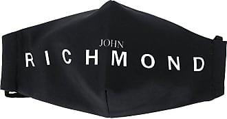 John Richmond Máscara de proteção com estampa de logo - Preto