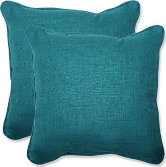 Pillow Perfect Outdoor Rave Teal Throw Pillow, Set of 2, 18.5, Green