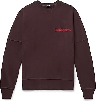 CALVIN KLEIN 205W39NYC Oversized Logo-embroidered Loopback Cotton-jersey Sweatshirt - Burgundy