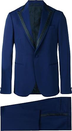 Versace Terno jacquard - Azul