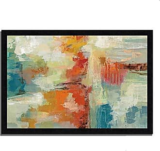 Tangletown Fine Art Coral Reef by Silvia Vassileva Framed Art White, Blue, Red, Orange