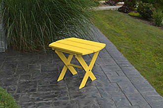 A & L Furniture A & L Furniture Poly Folding End Table, Lemon Yellow