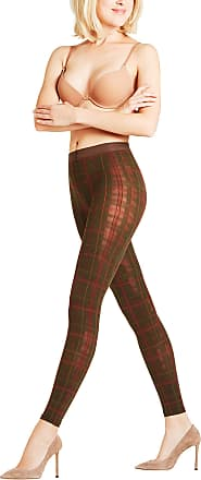 Falke Tartan 40 DEN Women Leggings dark brown (5230) M-L