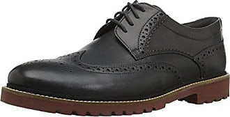 Rockport Mens Marshall Wingtip Oxford, Grey Leather, 7 W US