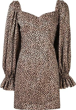 Karen Walker Embers leopard-print dress - BEIGe
