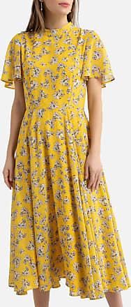 La Redoute Collections Gemustertes Kleid mit kurzen Volantärmeln - MEHRFARBIG - LA REDOUTE COLLECTIONS