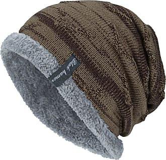 Yvelands Whycat Winter Warm Hat, Knit Slouchy Beanie, Winter Ski Hat with Fleece, Girls Oversized Winter Hat, Cotton Winter Cap, Cable Knit Beanie, Cute Skull