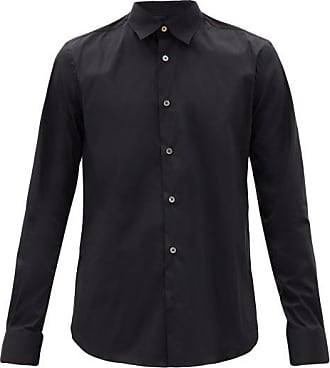 Paul Smith Cotton-blend Poplin Shirt - Mens - Black