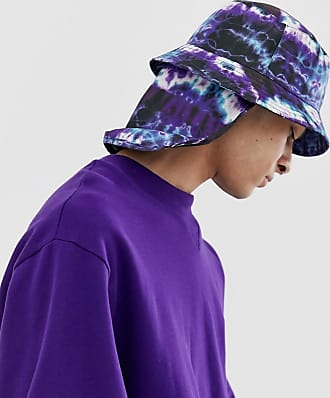 Asos bucket hat in tie dye with neck cover - Purple